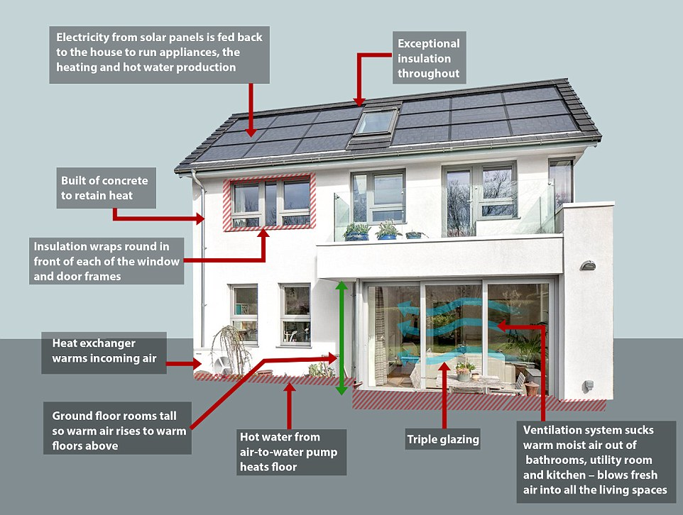 The most energy efficient homes in the world for Energy house