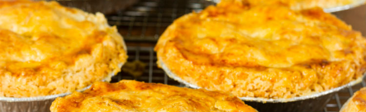 banner of Meat pies baking
