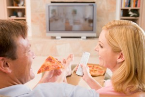 A fancy date night or pizza on the couch?