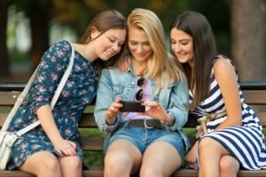 Women mobile phone