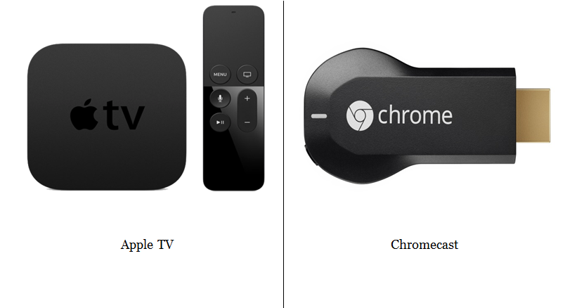 streaming options apple tv google chromecast