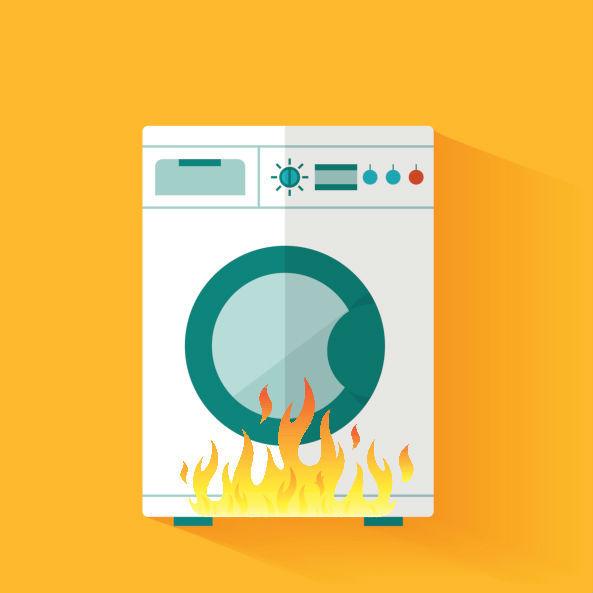burning dryer