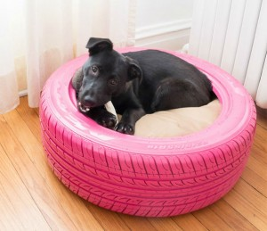 car tyre dog bed