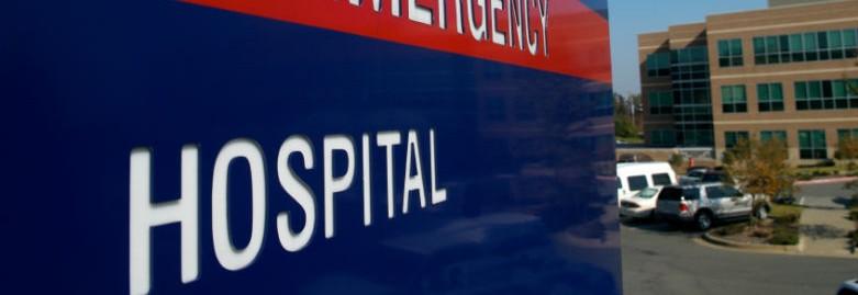hospital sign banner