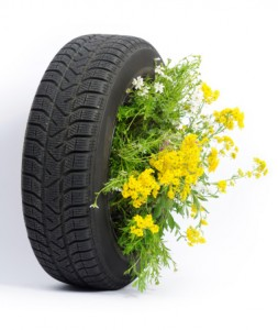 tyre flower